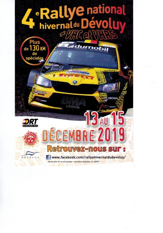 Rallye hivernal de retour dans le Dévoluy