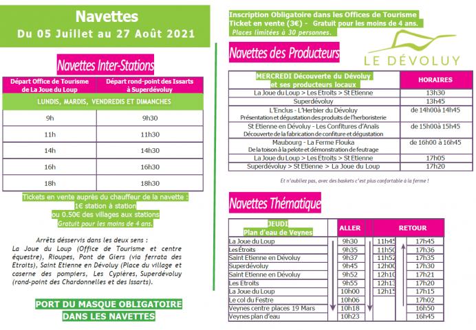 Navettes Eté 2021 - Thématique & Producteur
